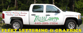 Fleet Vehicle Truck Lettering R1